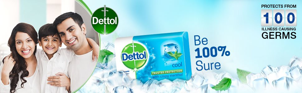 MAYABINI Dettol Cool Germ Protection Bathing Soap bar, 125gm (Pack of 5) POSTER 1